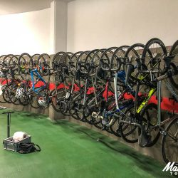 Bike servicing facilities at the hotel in Catalonia with Marmot Tours