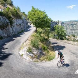 Climbing out of the Cirque de Navacelles with Marmot Tours