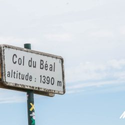 Col du Beal sign in the Massif Central