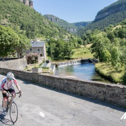 Riding through sleepy villages on the Raid Massif Central