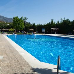 Hotel Ilunio Mijas swimming pool on Marmot Tours Andalucia Tour