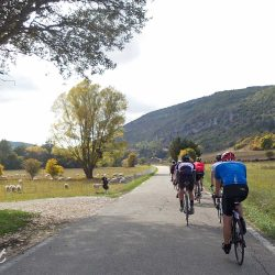 Cycling into the beautiful Gorges de la Nesque in Provence near Sault