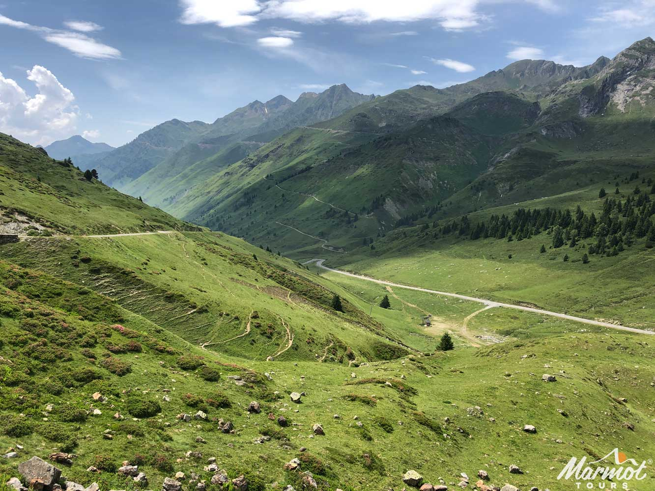 Tourmalet on Raid Pyrenean cycling challenge with Marmot Tours