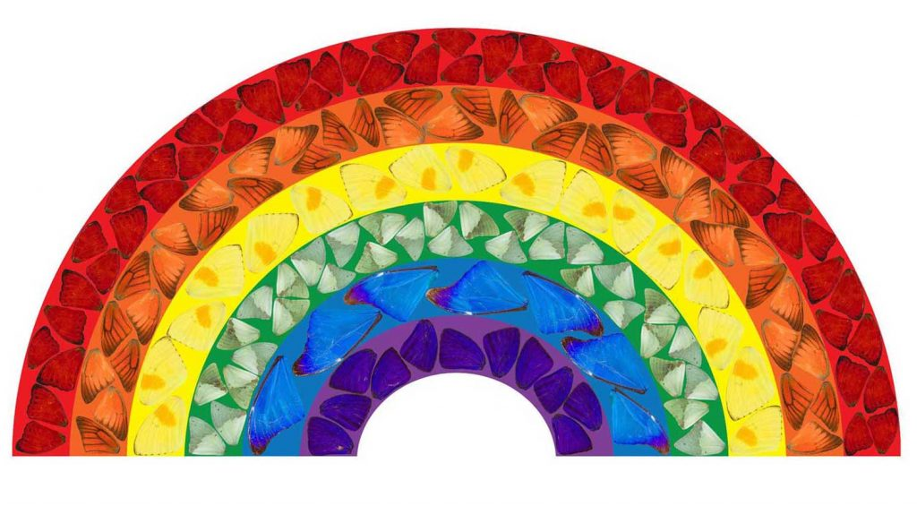 Damien Hirst's Butterfly Rainbow 2020 to show support for the NHS in the coronavirus crisis