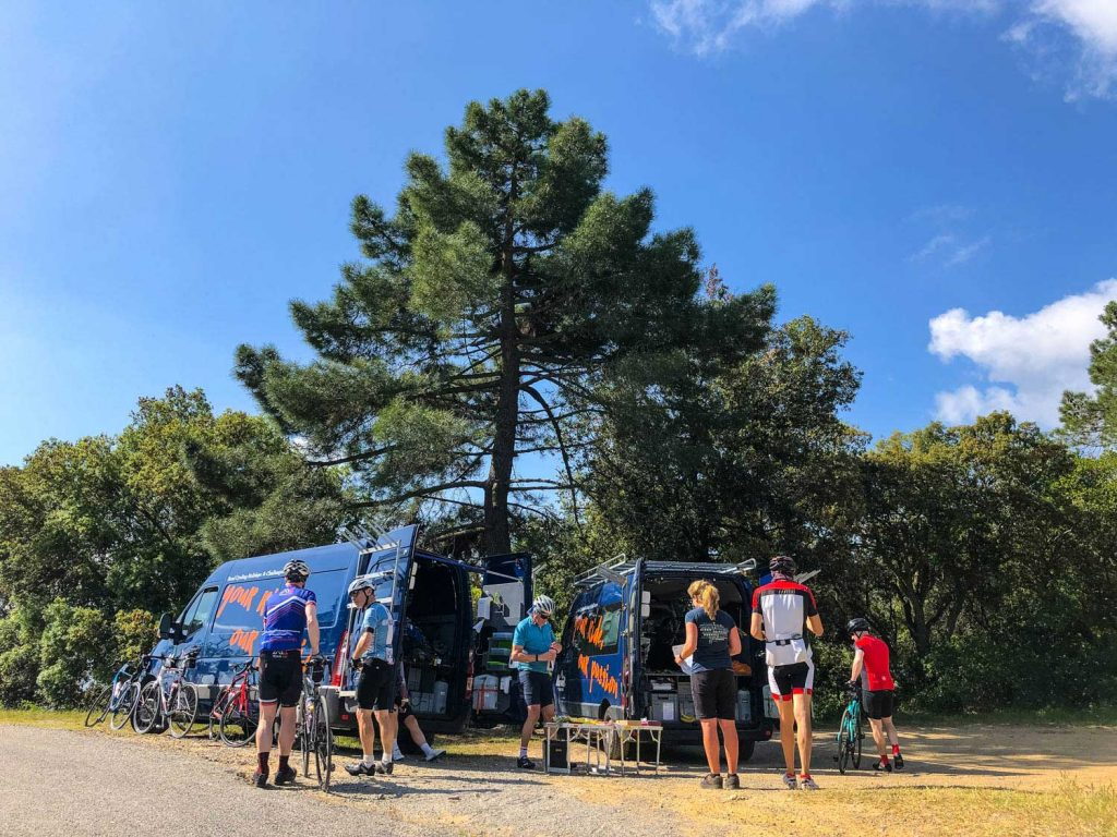Marmot Tours road cycling holidays support vans and guides with cyclists
